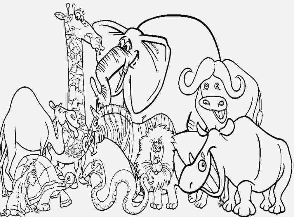 coloring pages of animals safari animals coloring pages getcoloringpagescom pages coloring of animals