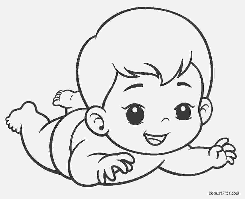 coloring pages of babies free printable baby coloring pages for kids cool2bkids of pages babies coloring