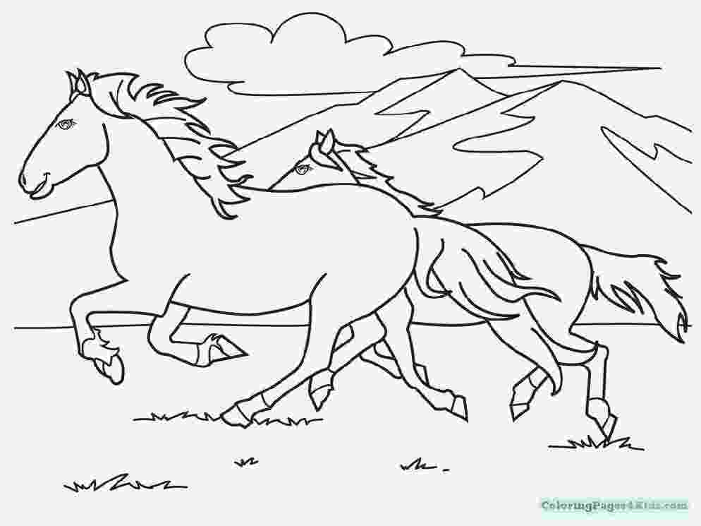 coloring pages of baby horses baby horse coloring pages getcoloringpagescom horses of coloring baby pages