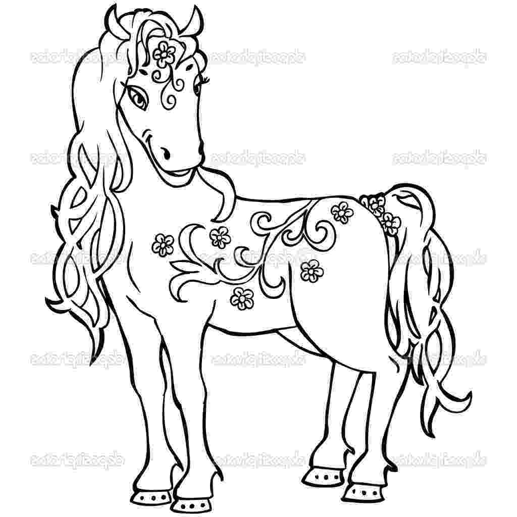 coloring pages of baby horses baby horse coloring pages getcoloringpagescom of coloring horses baby pages