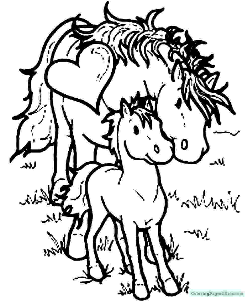 coloring pages of baby horses baby horse pony coloring page for kids for girls coloring horses pages of coloring baby