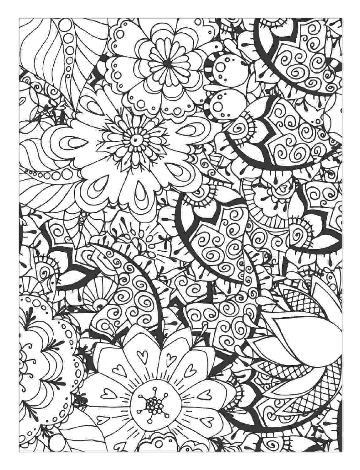 coloring pages of beautiful flowers beautiful flowers detailed floral designs coloring book beautiful pages flowers coloring of