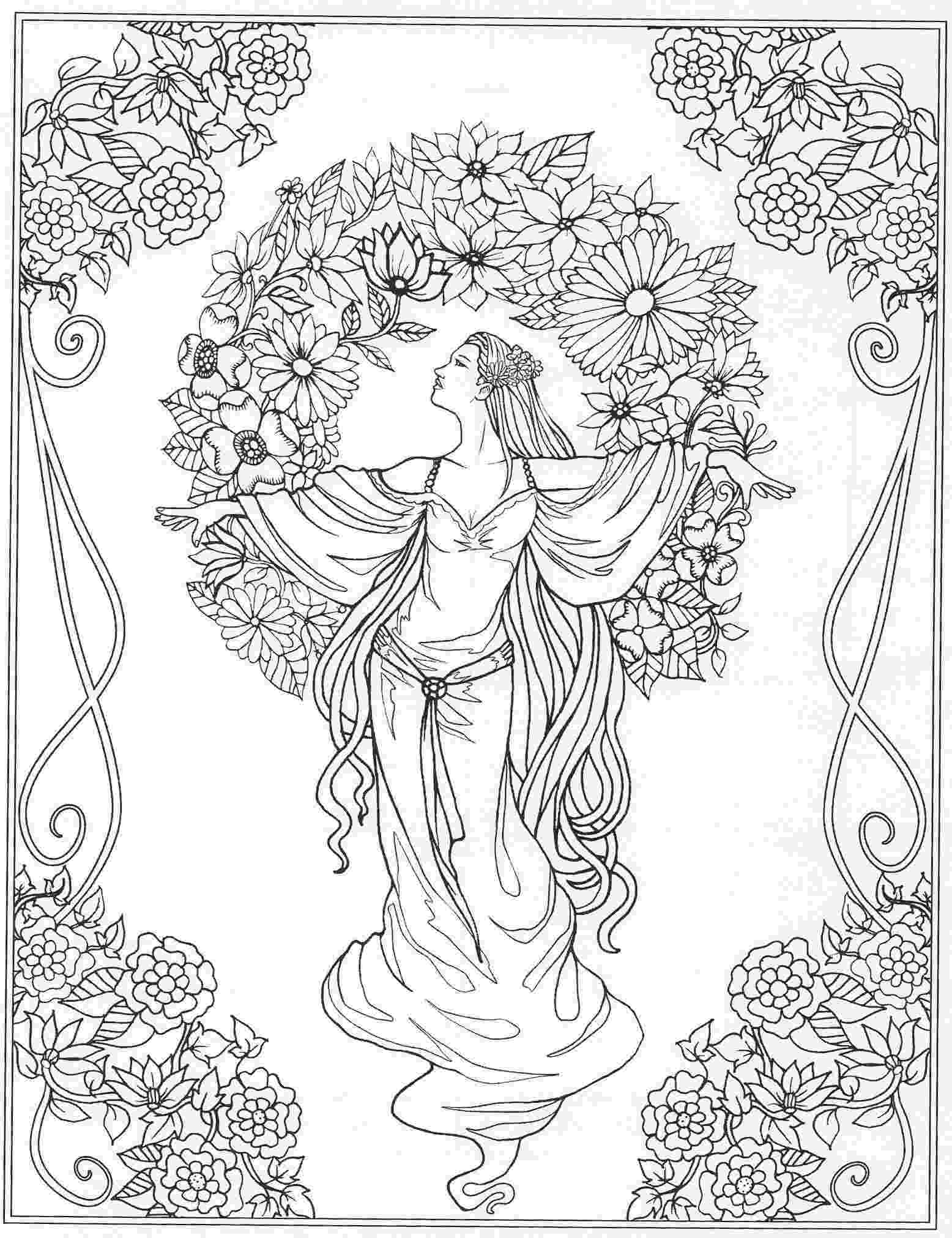 coloring pages of beautiful flowers beautiful lady amongst flowers coloring page beautiful pages coloring beautiful of flowers