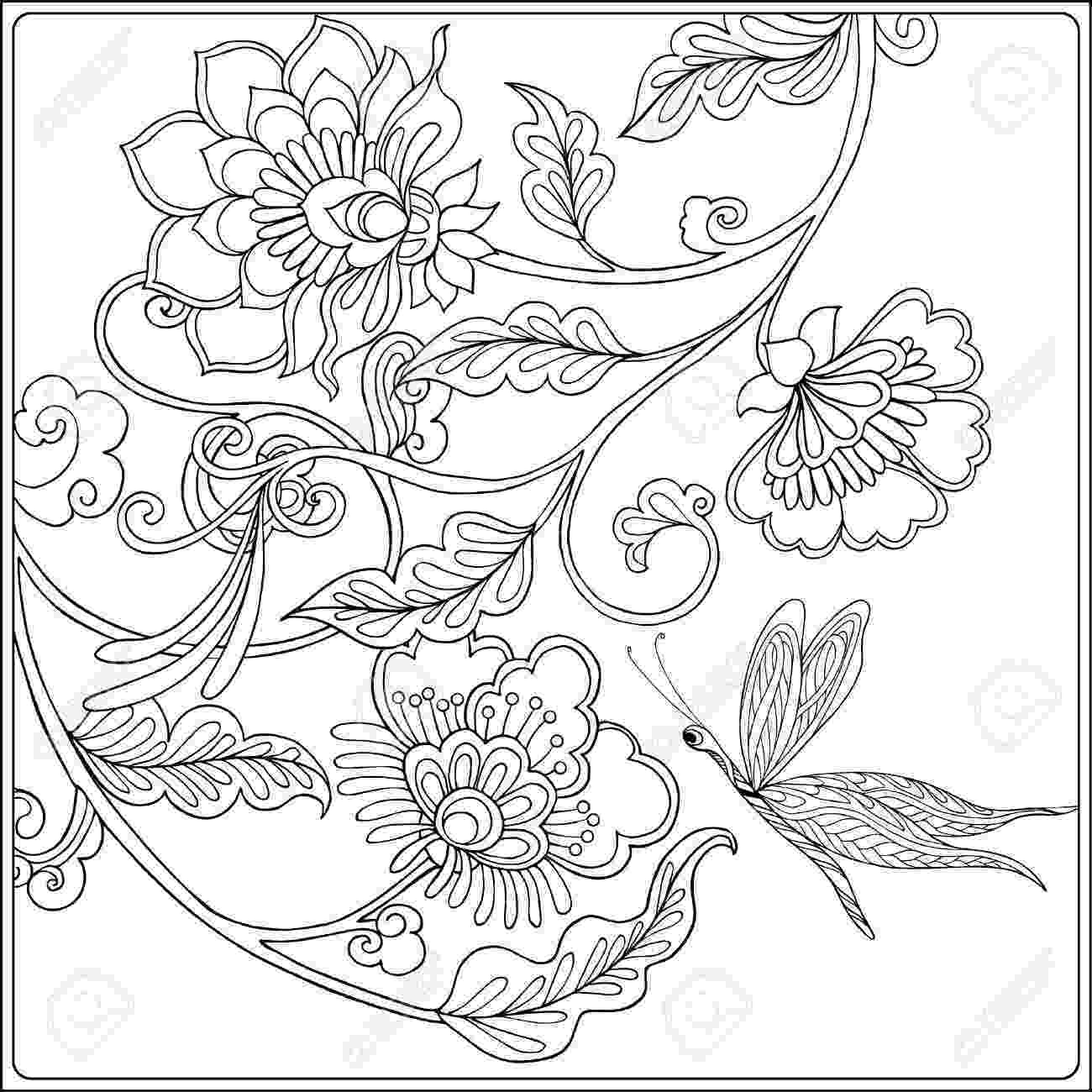 coloring pages of birds and flowers adult coloring page 2 birds and butterfly floral design pages and coloring birds flowers of