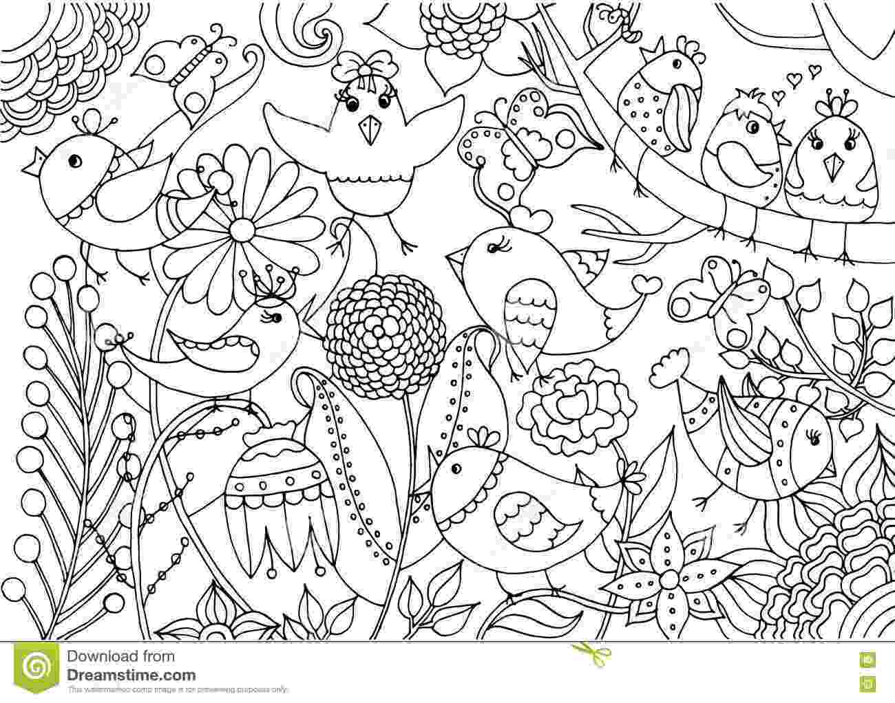 coloring pages of birds and flowers free printable coloring page arkansas state bird and and of birds pages coloring flowers