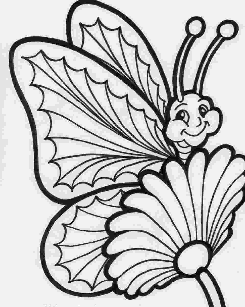coloring pages of butterflies and flowers butterfly and flowers coloring page free printable of coloring butterflies and flowers pages