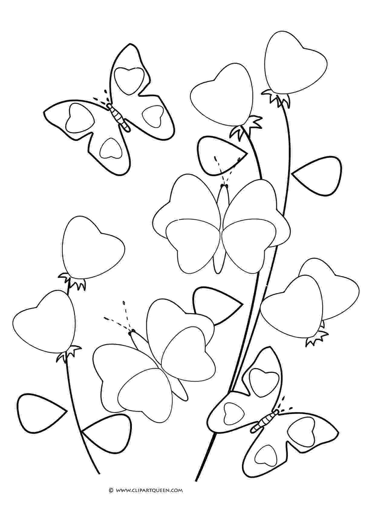 coloring pages of butterflies and flowers coloring pages of flowers and butterflies c l r the coloring flowers and butterflies pages of
