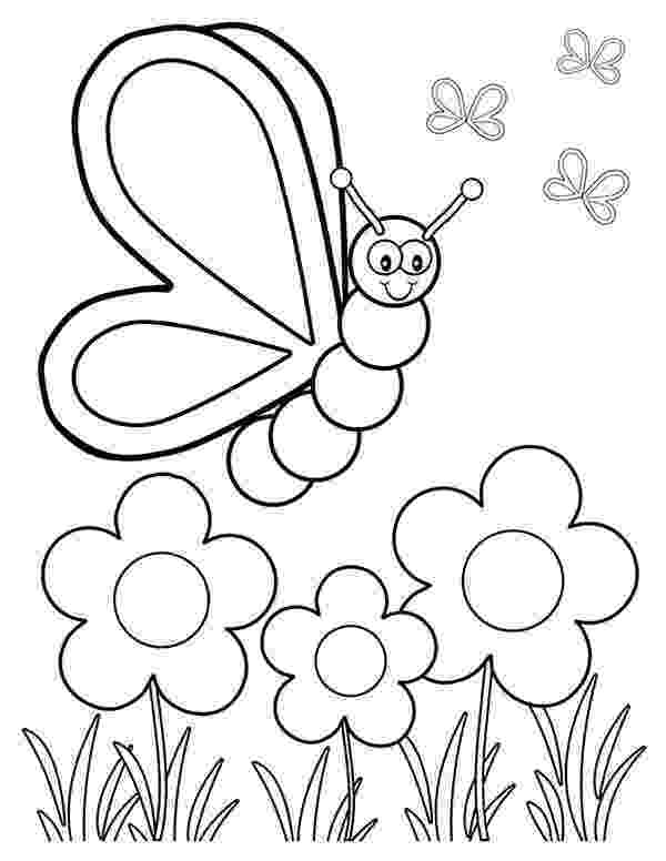 coloring pages of butterflies and flowers flowers and butterflies coloring page getcoloringpagescom flowers butterflies pages coloring and of