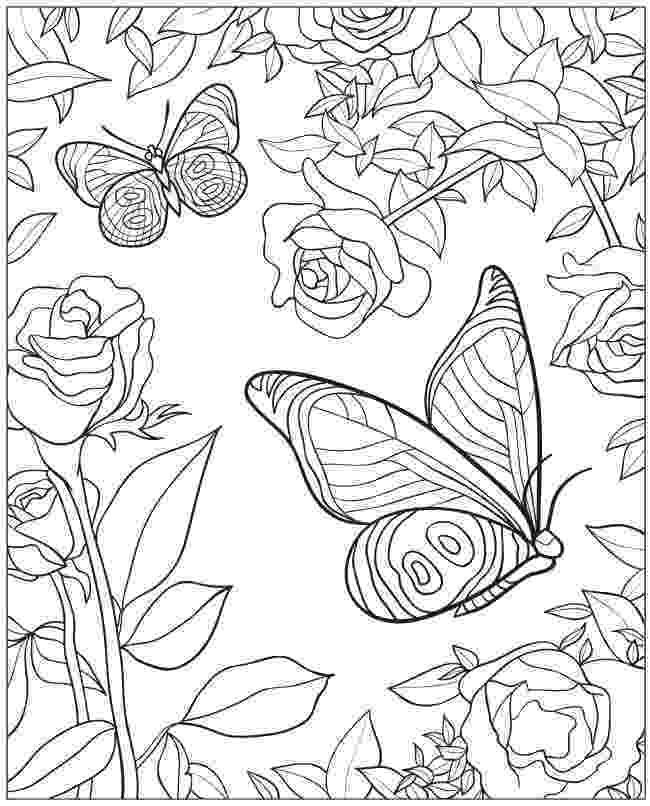 coloring pages of butterflies and flowers welcome to dover publications creative haven beautiful of and flowers butterflies coloring pages