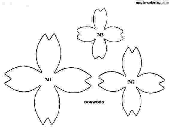 coloring pages of dogwood flowers dogwood tree coloring page at getcoloringscom free dogwood of coloring flowers pages