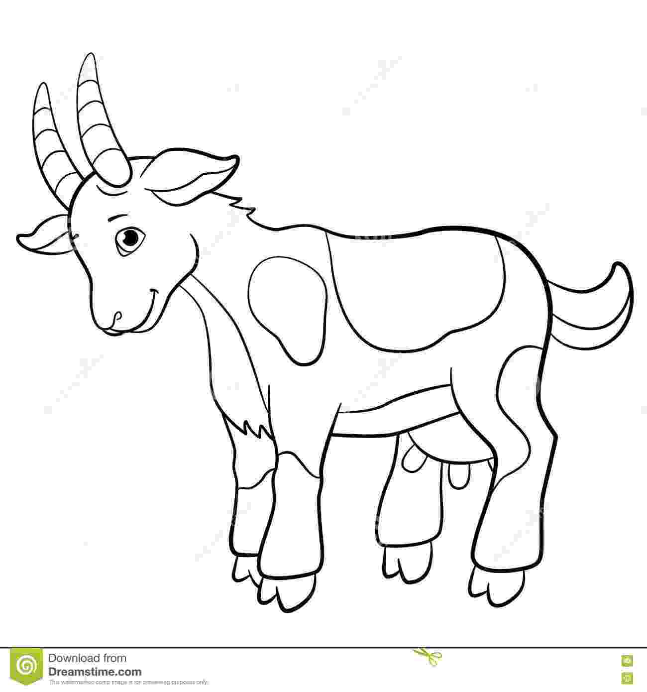 coloring pages of goats free printable goat coloring pages for kids coloring pages of goats