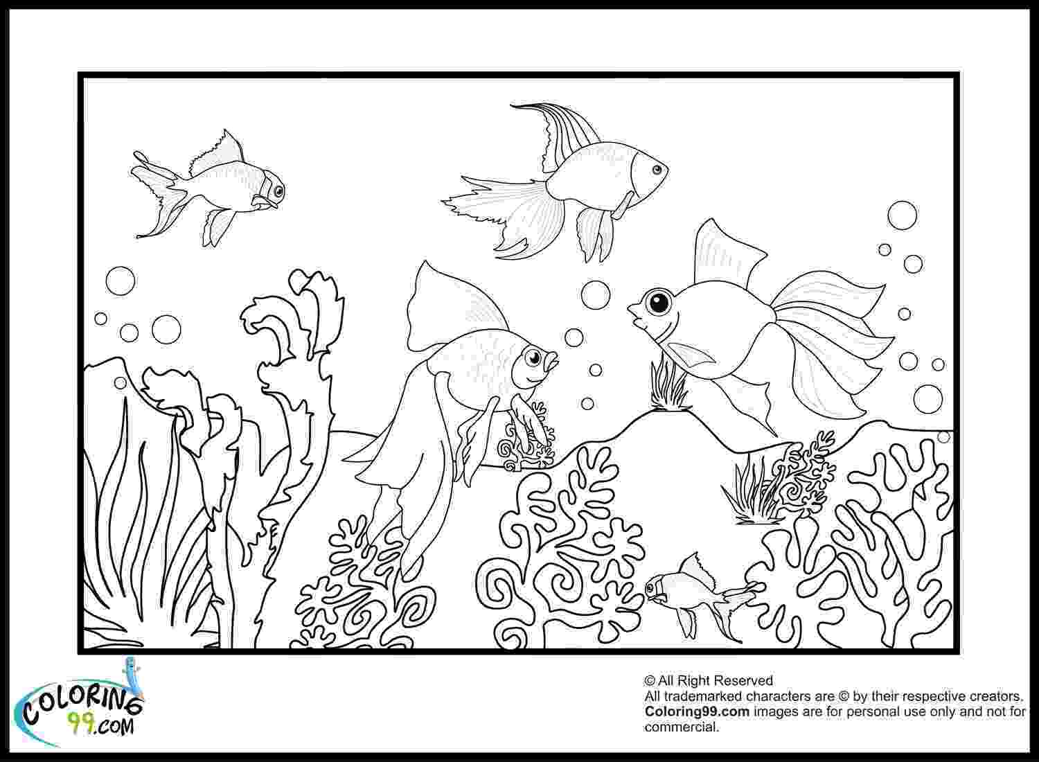 coloring pages of goldfish printable goldfish coloring pages for kids cool2bkids coloring pages of goldfish 1 1