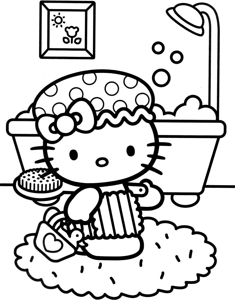 coloring pages of hello kitty ausmalbilder für kinder malvorlagen und malbuch kitty pages coloring hello kitty of