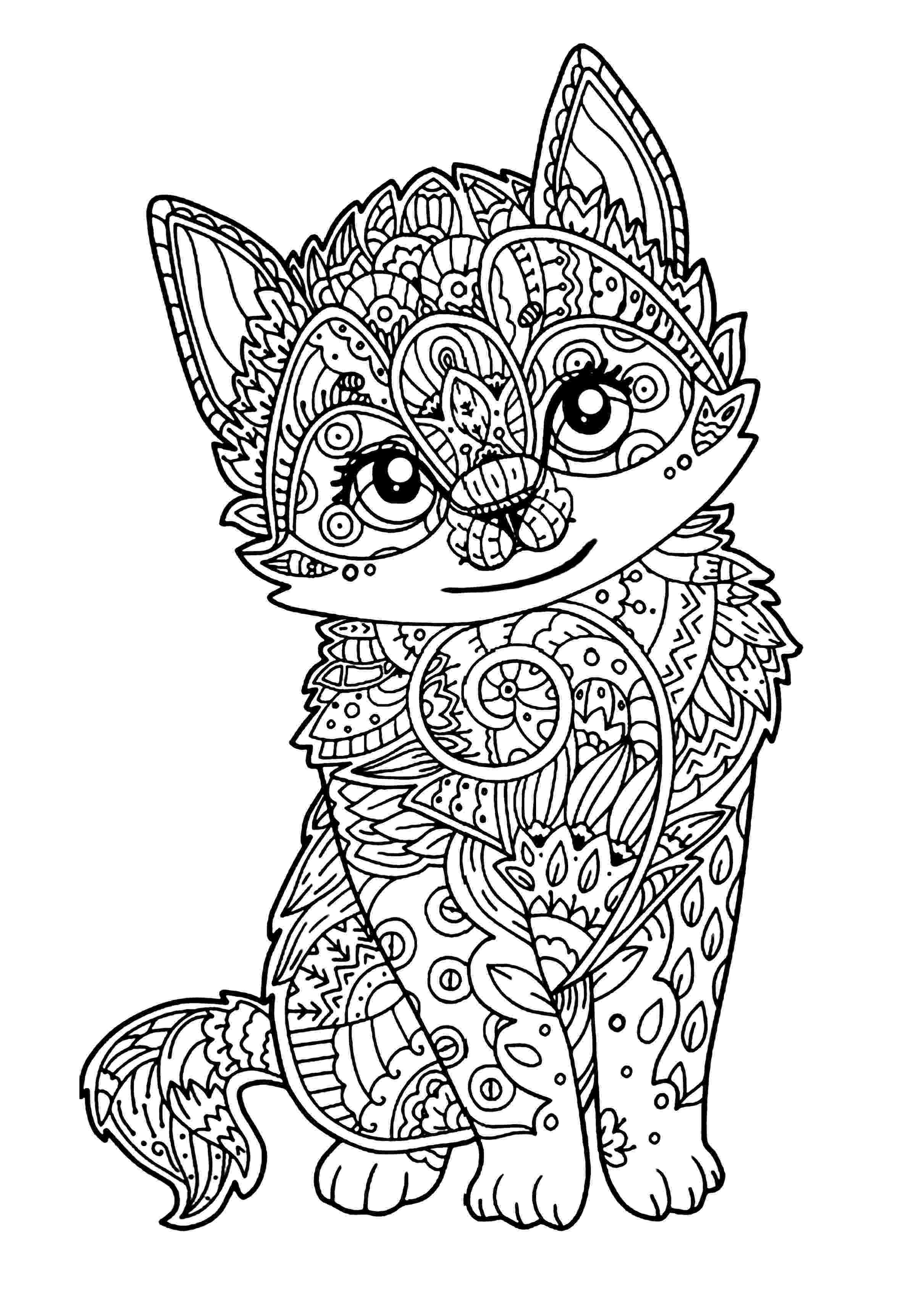 coloring pages of kittens navishta sketch sweet cute angle cats coloring kittens pages of