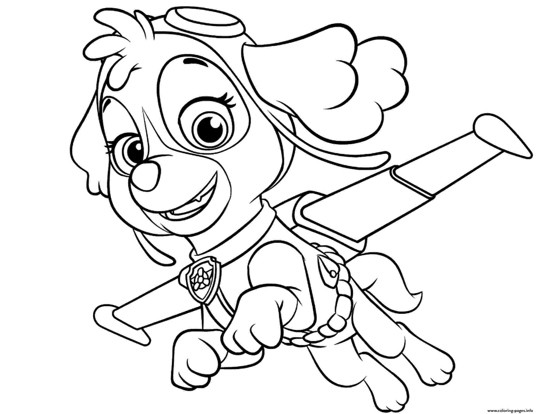 coloring pages of paw patrol chase paw patrol coloring pages to download and print for free of patrol paw pages coloring