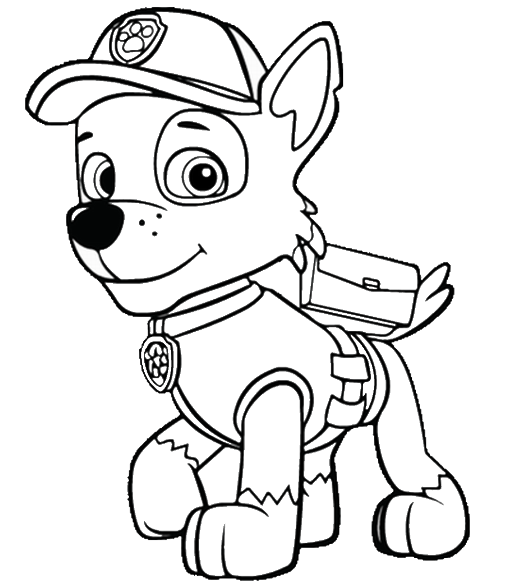 coloring pages of paw patrol chase paw patrol coloring pages to download and print for free patrol pages paw coloring of
