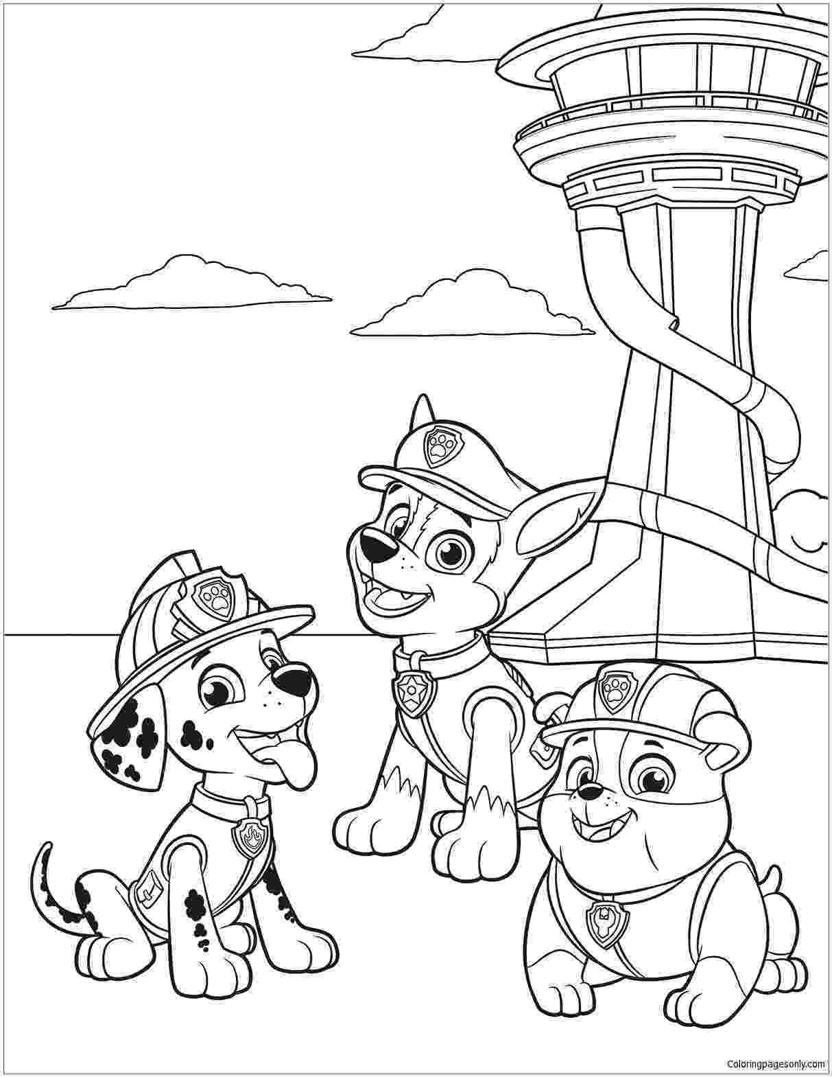 coloring pages of paw patrol free nick jr paw patrol coloring pages coloring patrol paw of pages