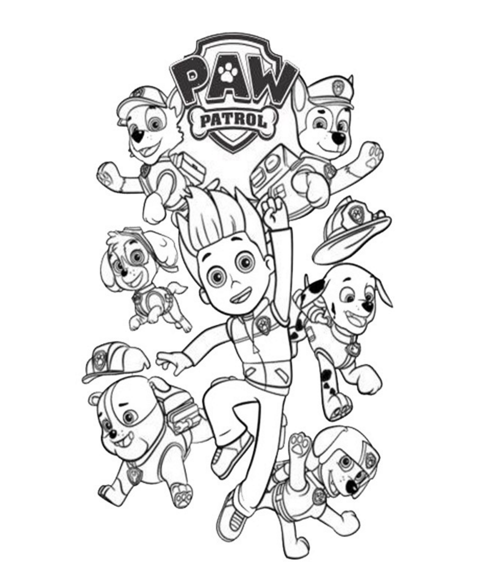 coloring pages of paw patrol free printable paw patrol coloring pages for kids patrol of coloring paw pages