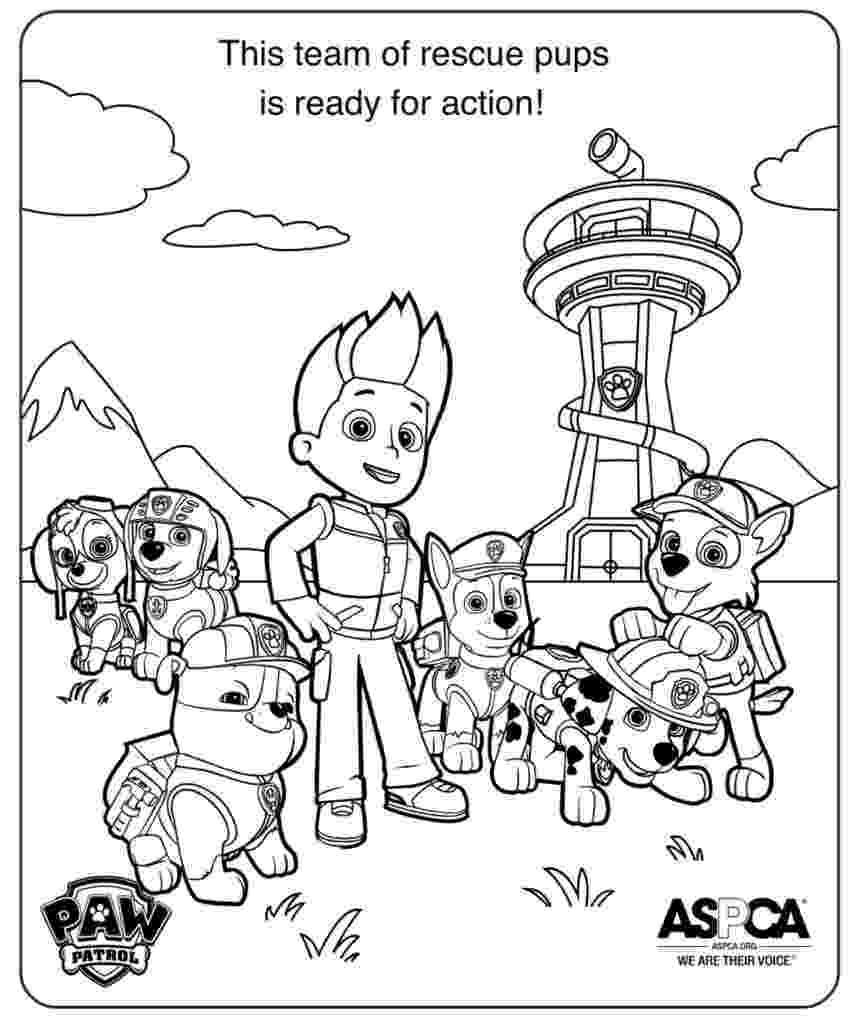 coloring pages of paw patrol paw patrol rocky and marshall coloring page free coloring paw patrol pages of