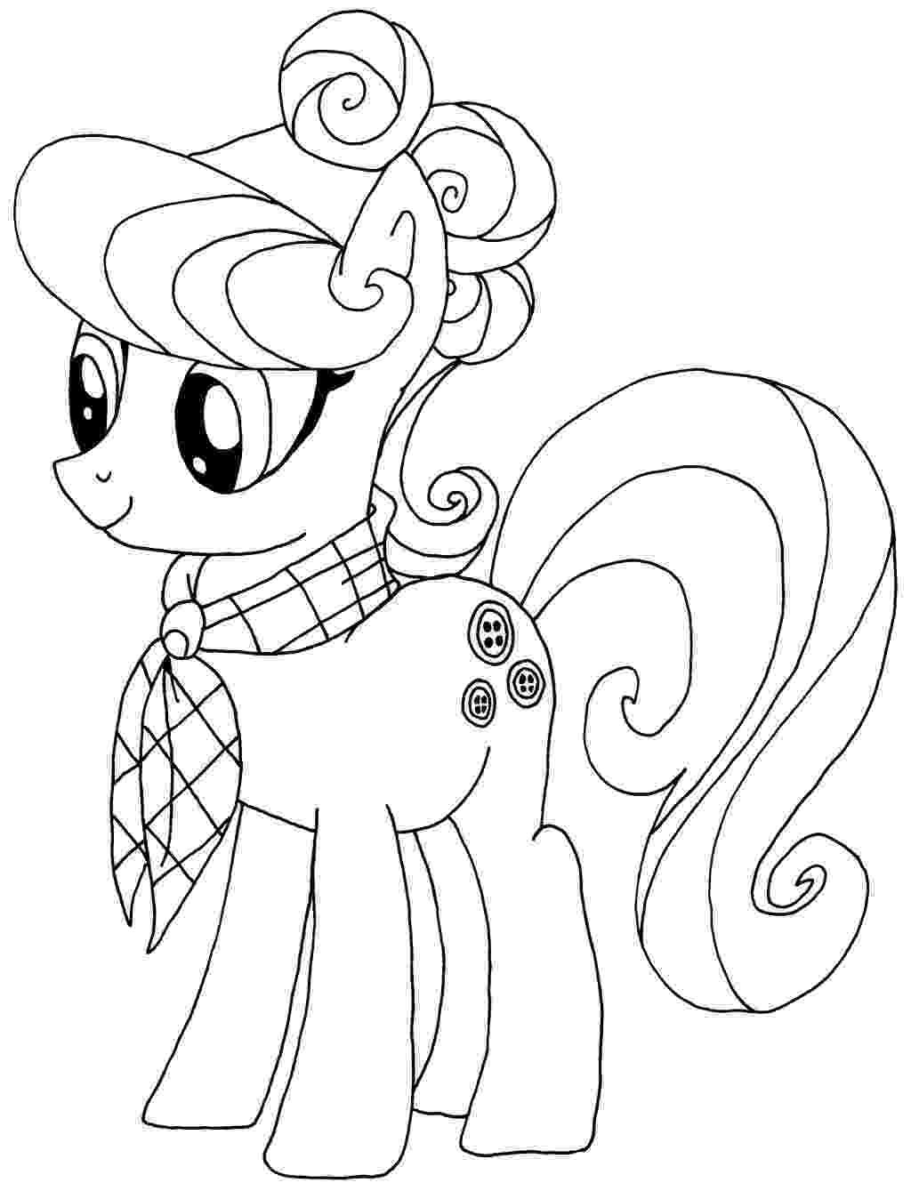 coloring pages of ponies free printable my little pony coloring pages for kids ponies coloring pages of