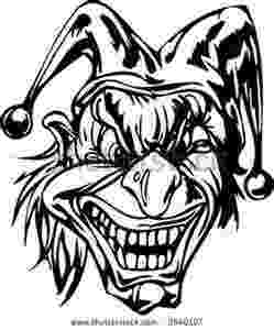 coloring pages of scary clowns clown coloring pages 360coloringpages coloring scary pages of clowns
