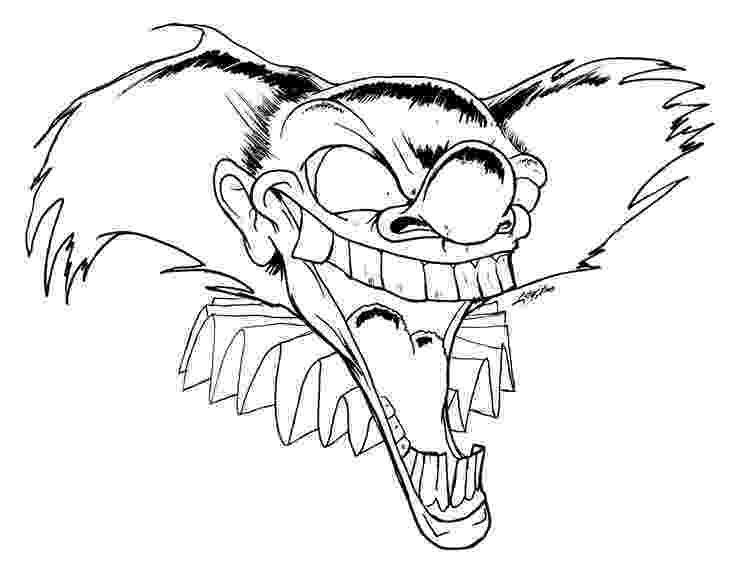 coloring pages of scary clowns clown coloring pages 360coloringpages scary of pages coloring clowns