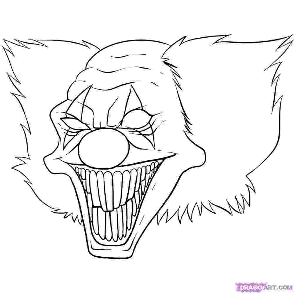 coloring pages of scary clowns clown coloring pages google search clown fetish coloring clowns pages of scary
