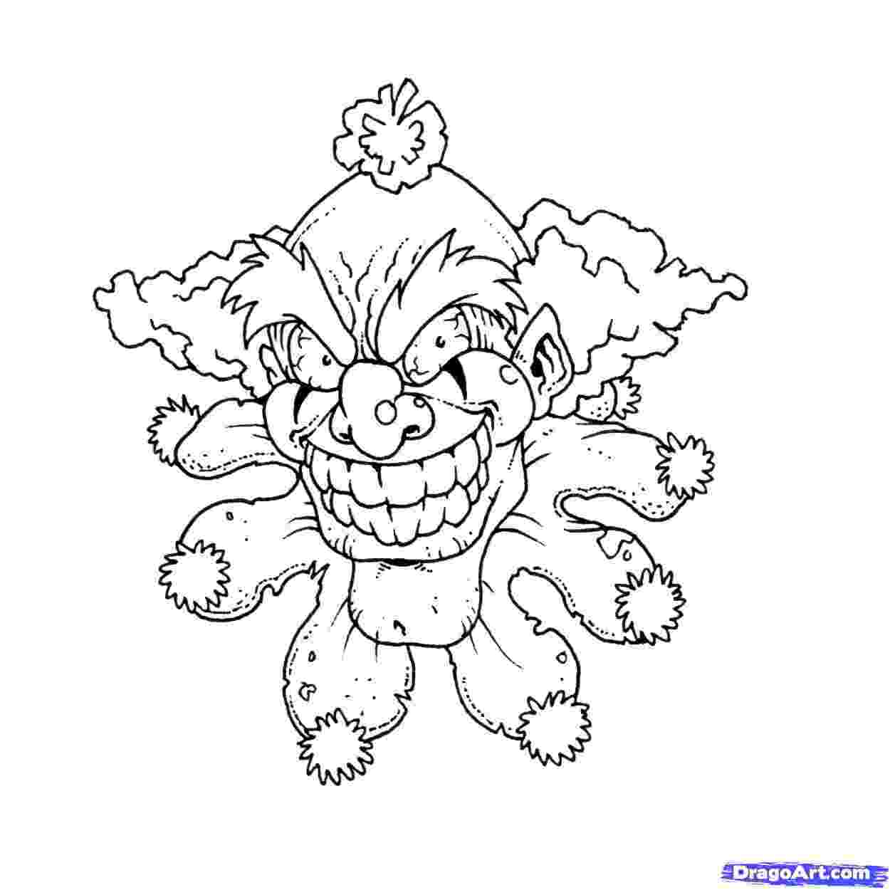 coloring pages of scary clowns colclown coloring pages 253623 icp coloring pages scary pages clowns of coloring