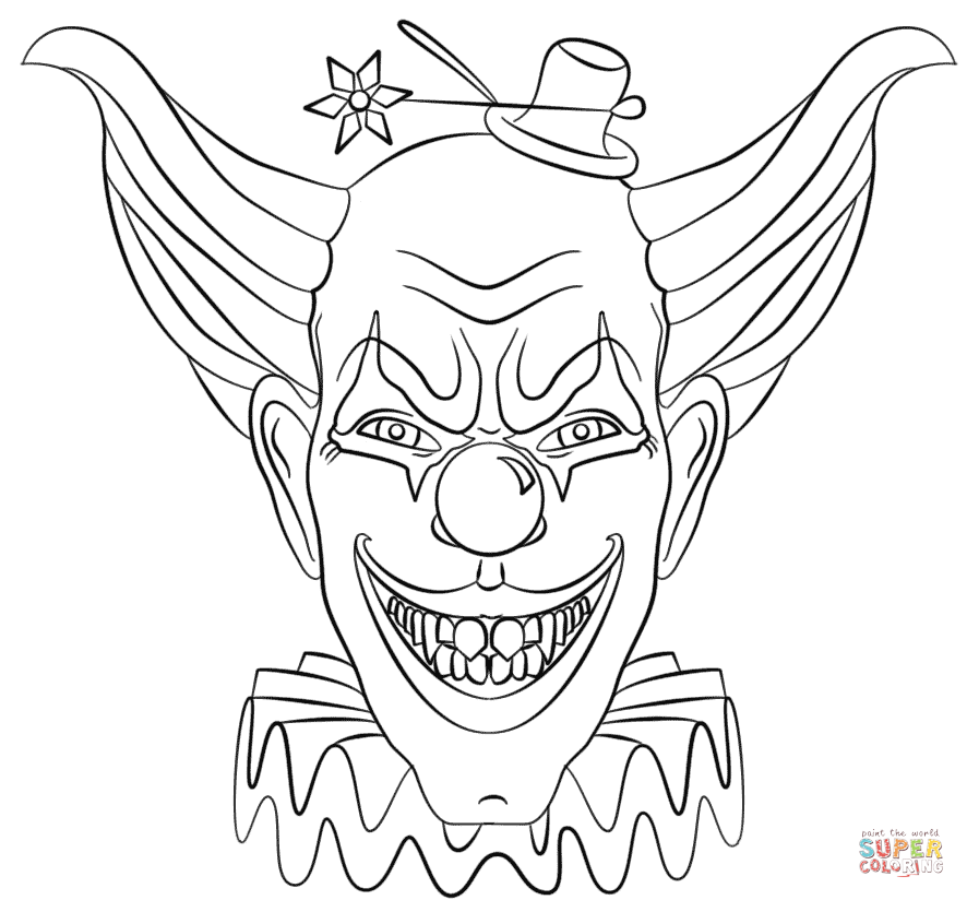 coloring pages of scary clowns image result for scary clown coloring pages clowns of clowns pages scary coloring