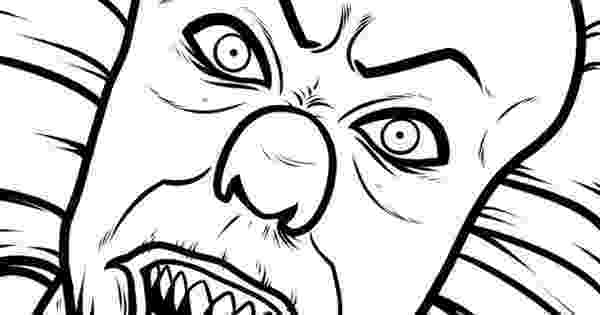 coloring pages of scary clowns scary clown coloring page colowing pinterest scary clowns of pages scary coloring
