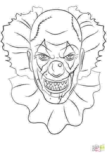 coloring pages of scary clowns scary clown coloring page colowing pinterest scary of pages scary coloring clowns