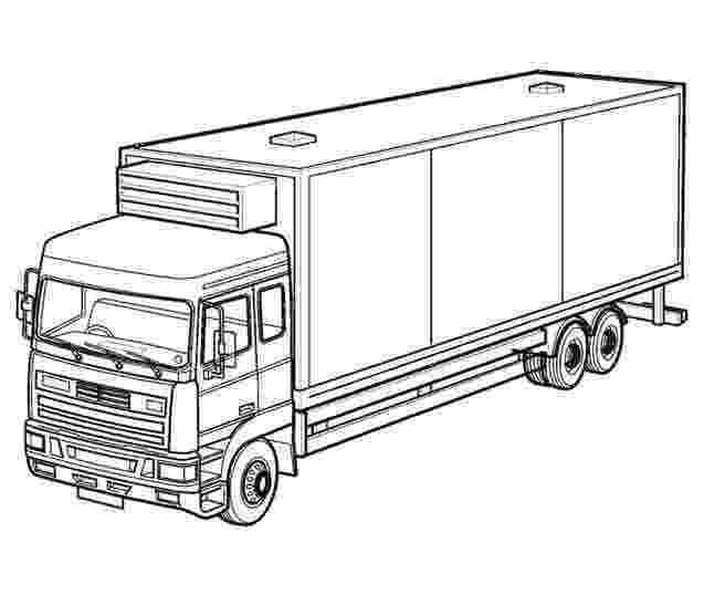 coloring pages of semi trucks 40 free printable truck coloring pages download pages coloring trucks of semi