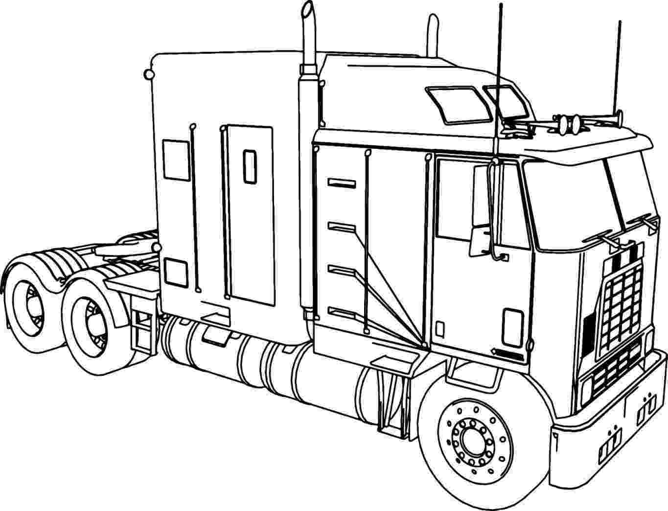 coloring pages of semi trucks diesel truck coloring pages at getcoloringscom free semi coloring pages trucks of