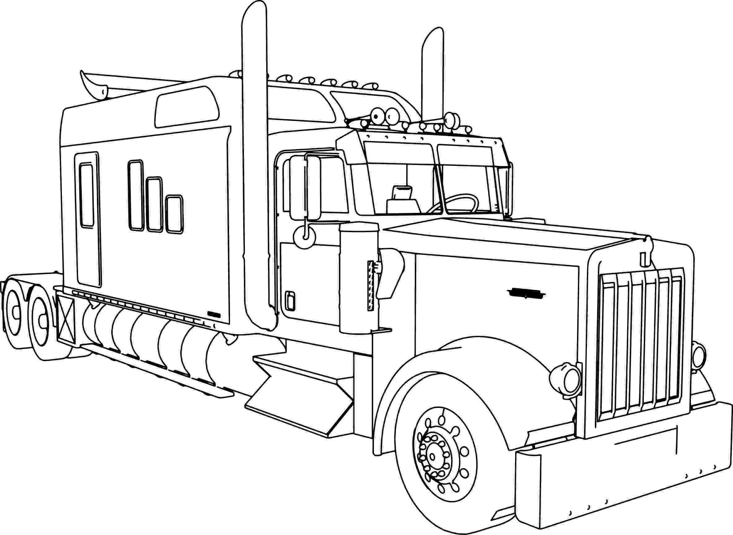 coloring pages of semi trucks kenworth w900 custom m long trailer truck coloring page coloring pages semi trucks of