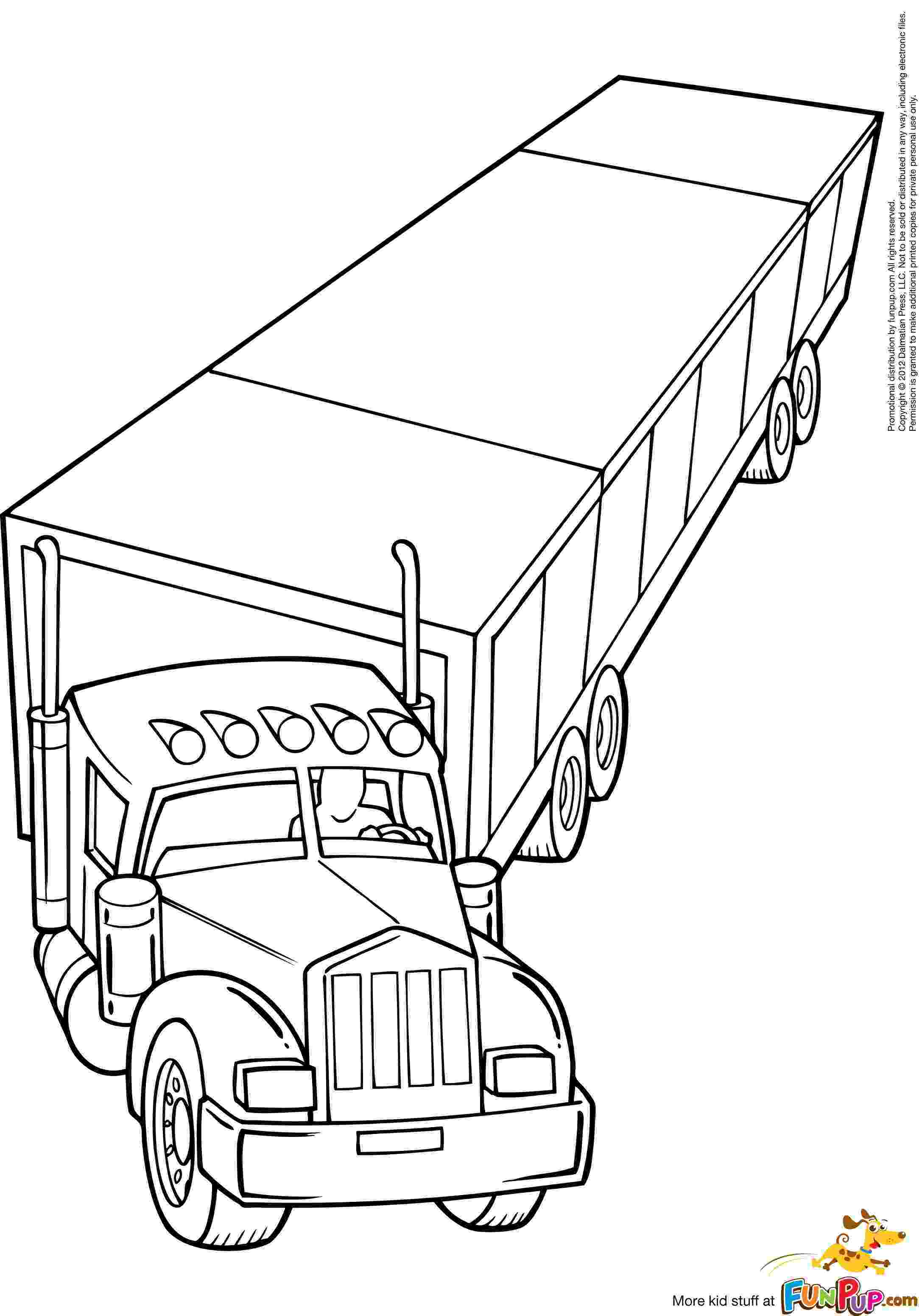 coloring pages of semi trucks semi truck coloring pages to download and print for free coloring trucks pages semi of