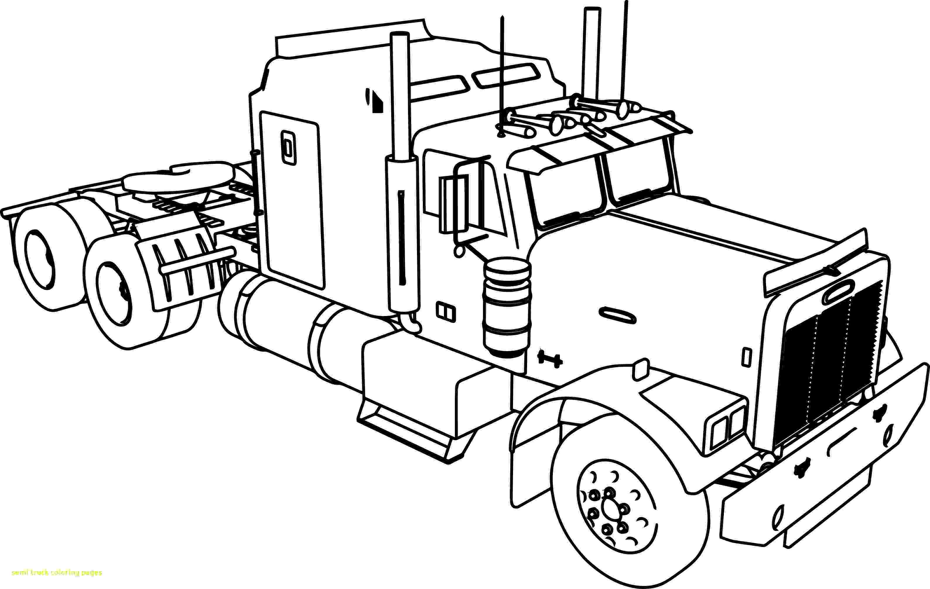 coloring pages of semi trucks semi truck coloring pages to download and print for free coloring trucks semi of pages
