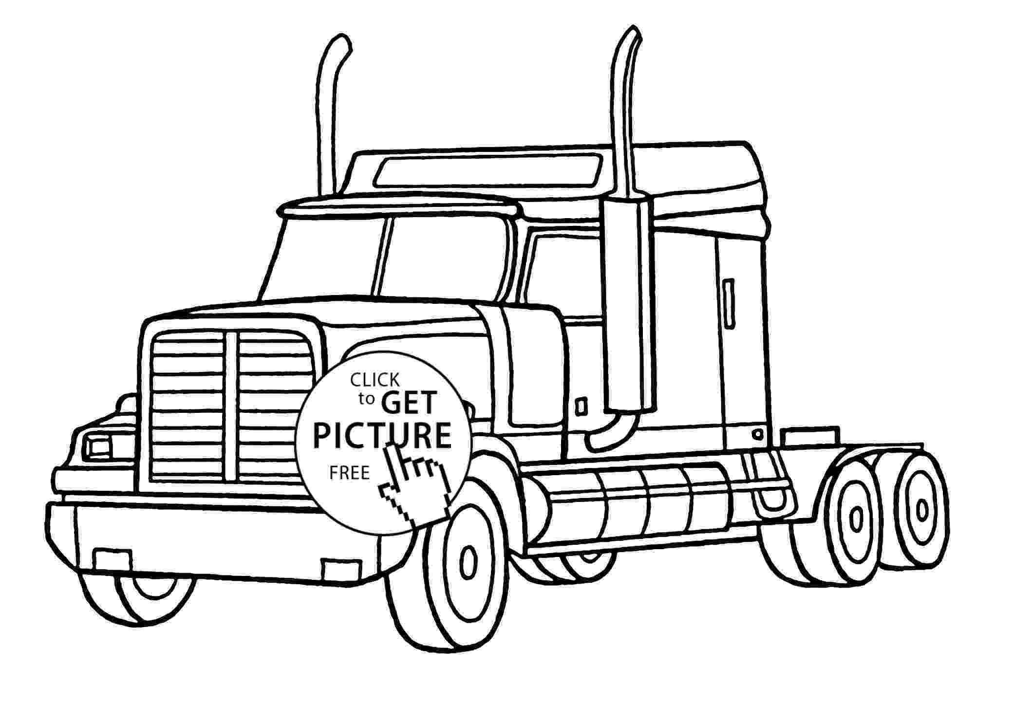 coloring pages of semi trucks semi truck coloring pages to print free coloring books coloring pages of semi trucks 1 1