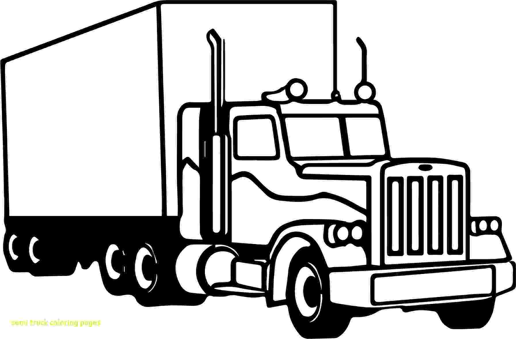 coloring pages of semi trucks semi truck coloring pages to print free coloring books semi of coloring trucks pages