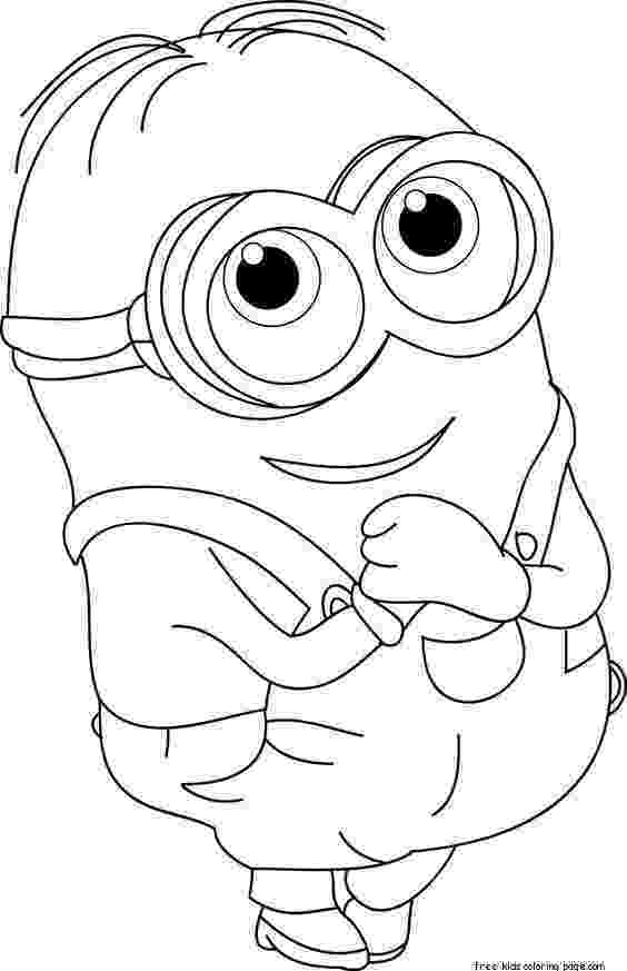 coloring pages online minions printable the minions dave coloring page for kidsfree coloring pages online minions