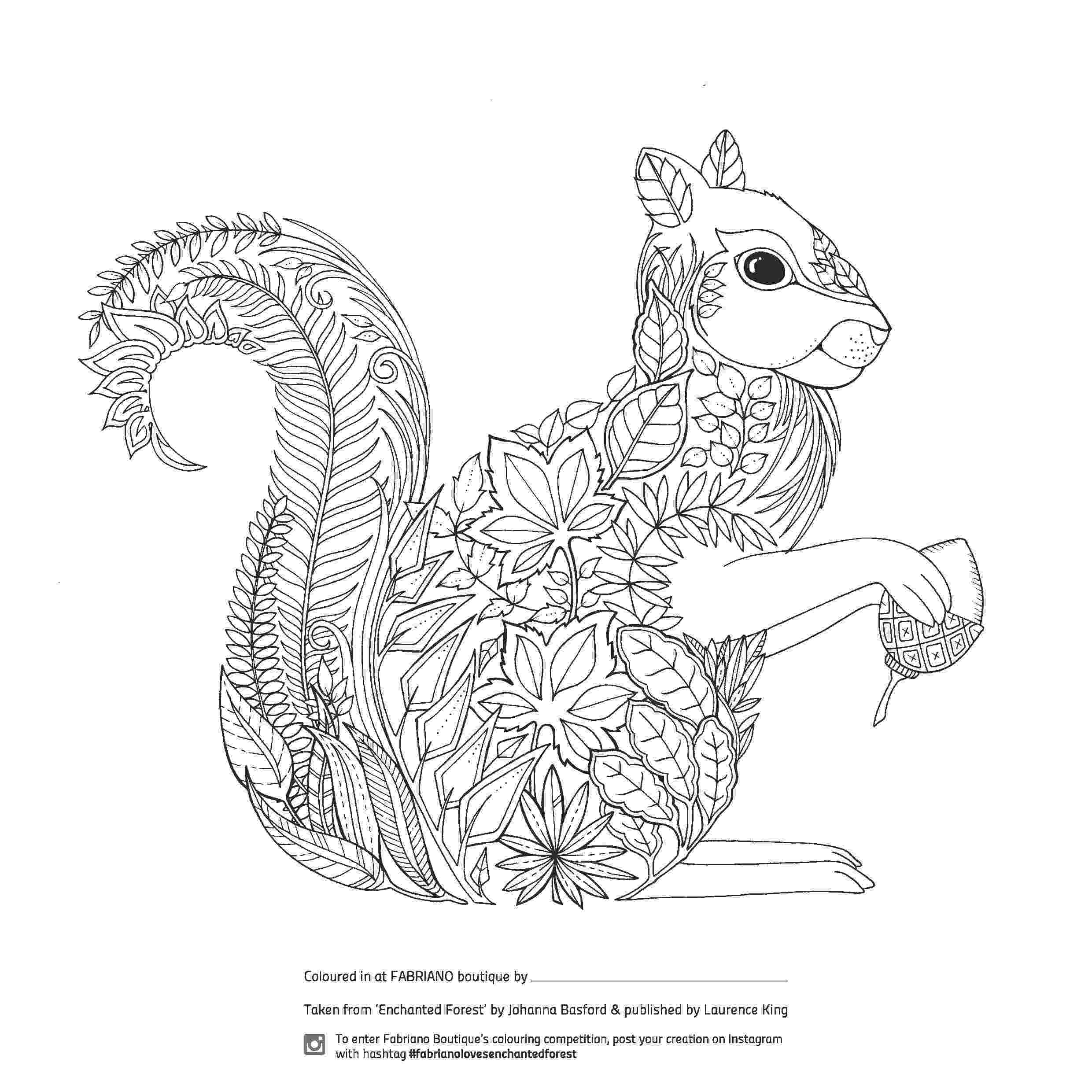 coloring pages pdf enchanted forest colouring competition at fabriano pages coloring pdf