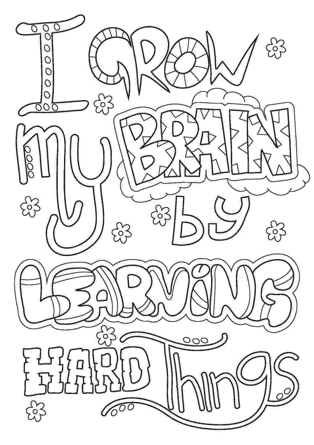 coloring pages pdf growth mindset printables kit pdf goal directed coloring pages pdf