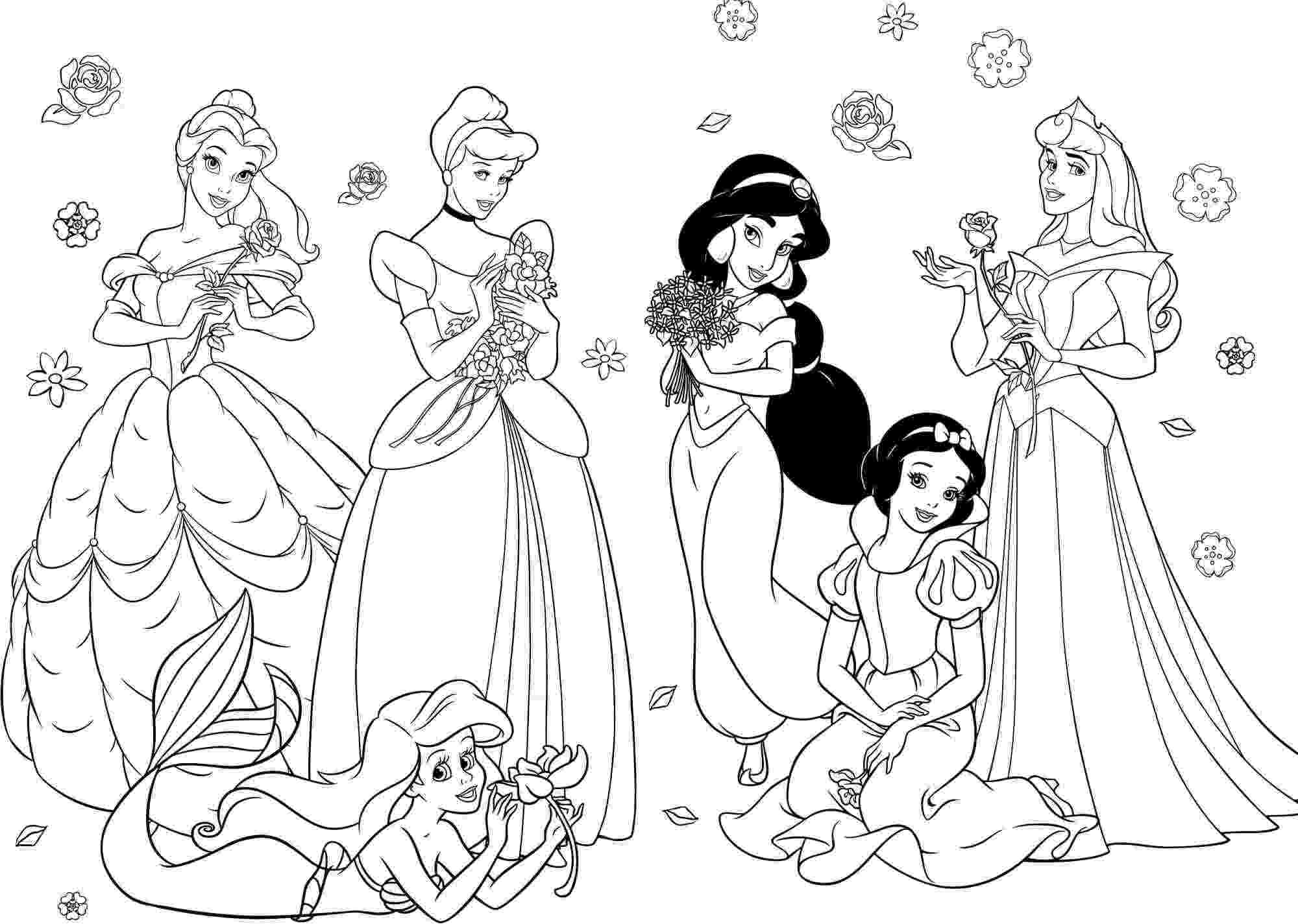 coloring pages princesses all disney princesses coloring pages getcoloringpagescom coloring pages princesses