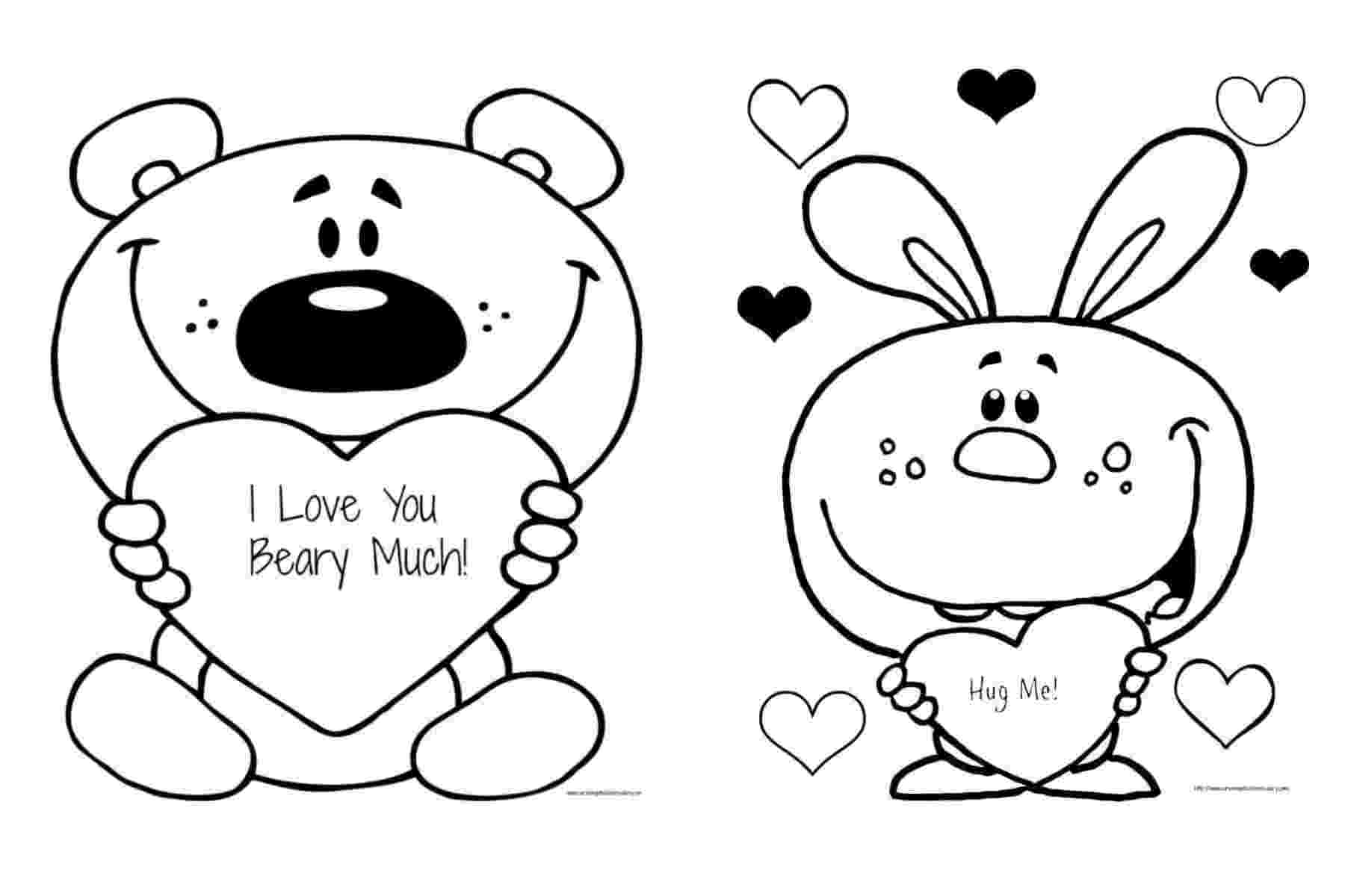 coloring pages that say i love you free valentine39s quoti love you beary muchquot coloring page say love that pages coloring you i