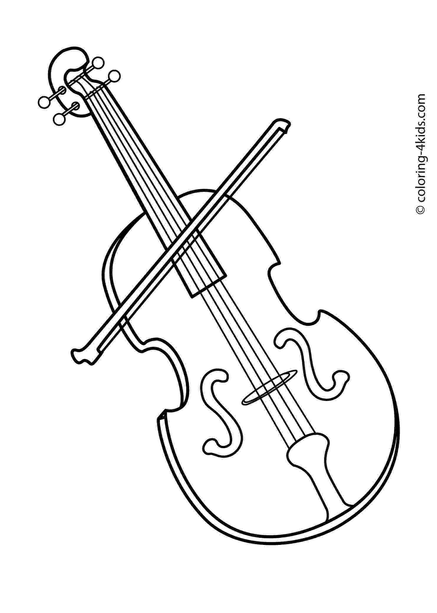 coloring pages violin music letmecolor pages coloring violin