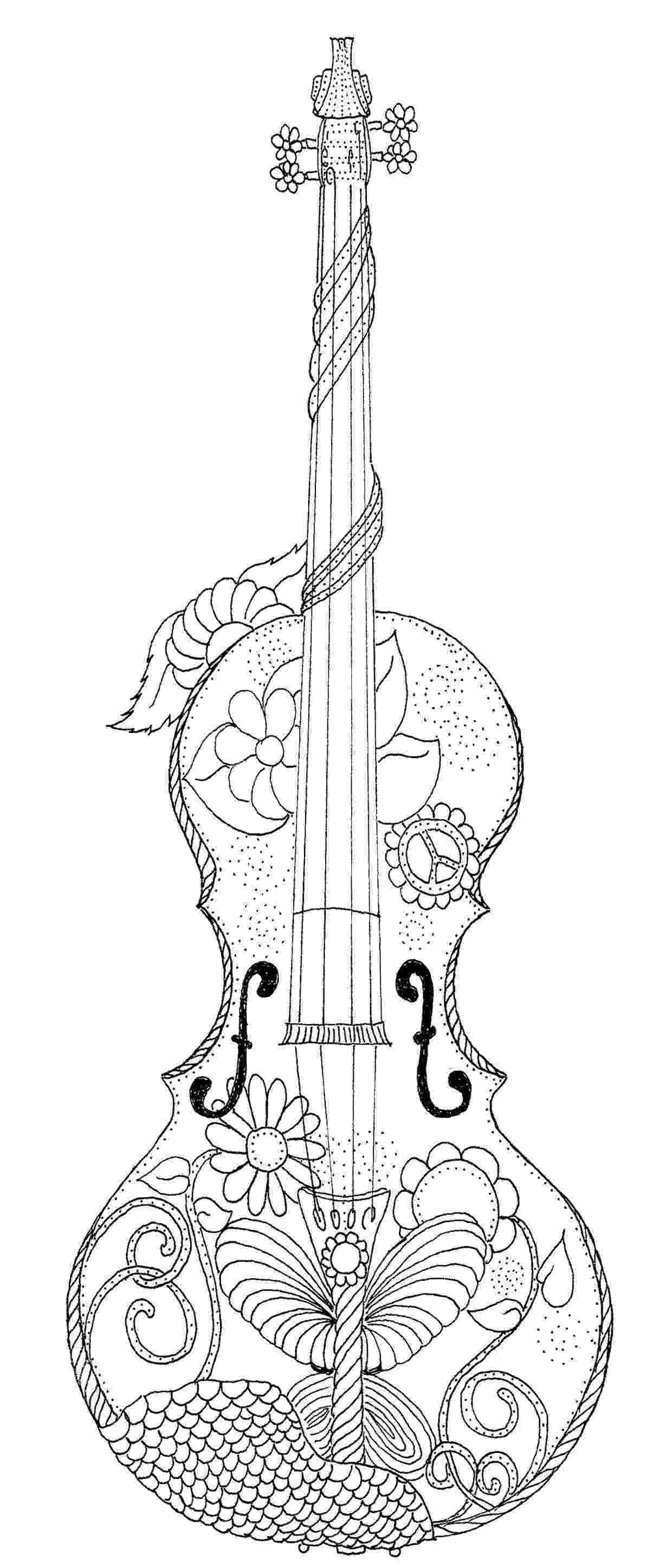 coloring pages violin violin coloring page adult coloring journaling and markers violin pages coloring