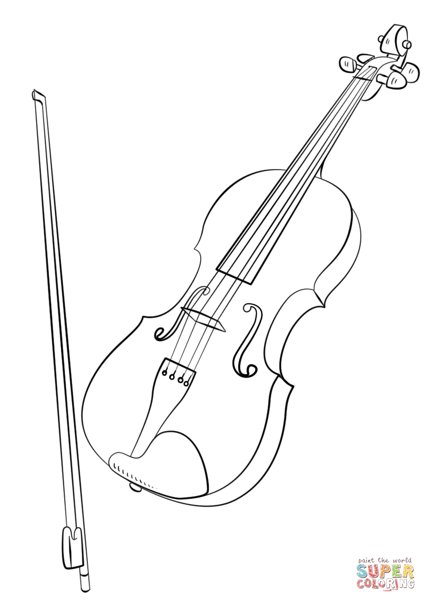 coloring pages violin violin drawing at getdrawingscom free for personal use violin coloring pages