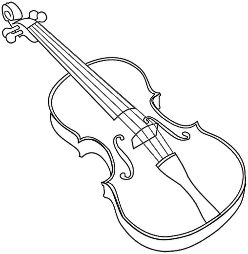 coloring pages violin violin outline bold violin music instruments instruments pages coloring violin