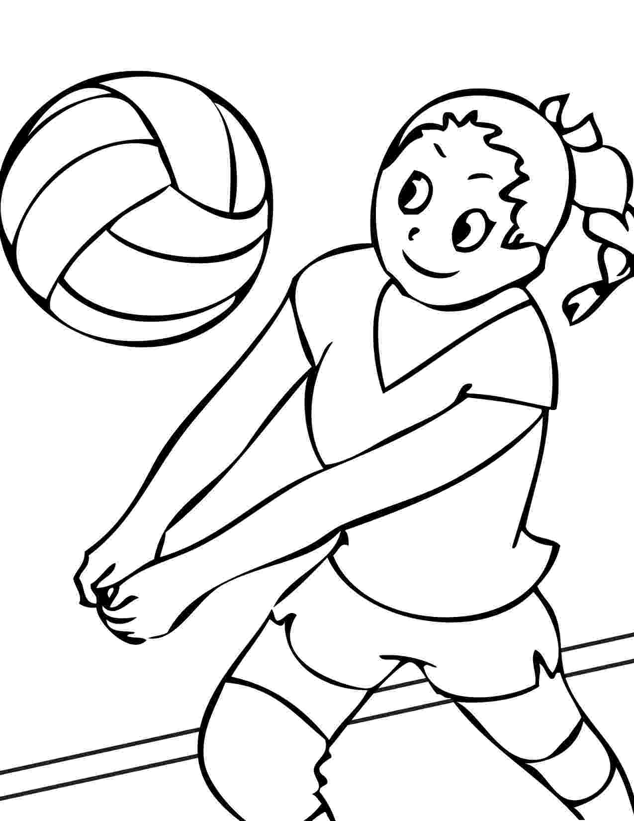 coloring pages volleyball printable volleyball coloring pages for kids cool2bkids pages coloring volleyball