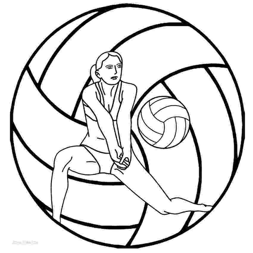 coloring pages volleyball volleyball drawing at getdrawings free download pages coloring volleyball