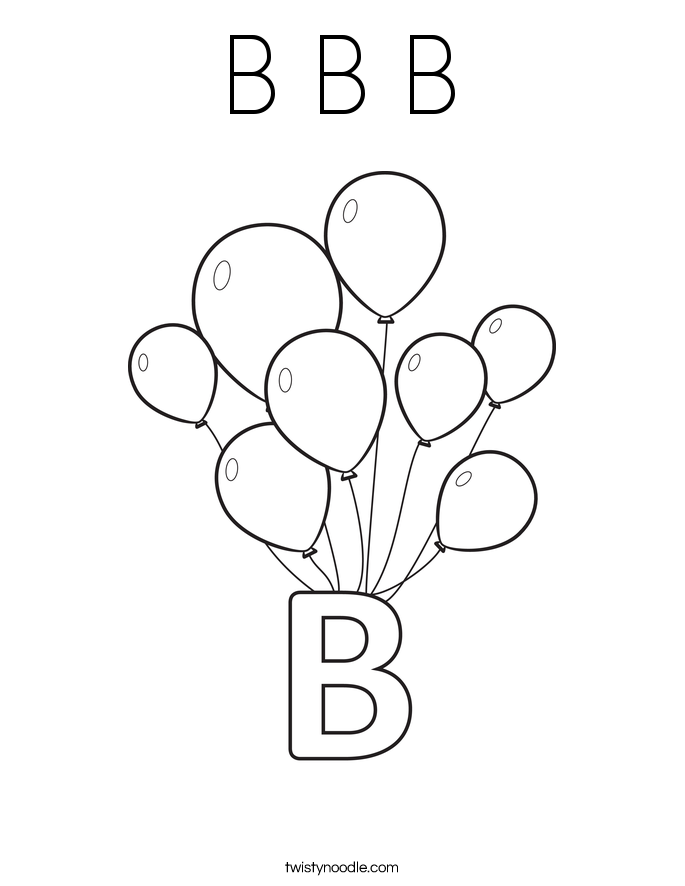 coloring pages with the letter b letter b coloring pages to download and print for free pages letter coloring the with b